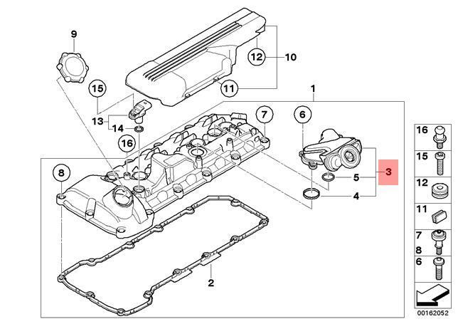 Genuine Bmw M3 E90 E92 Oil Separator Crankcase Ventilation