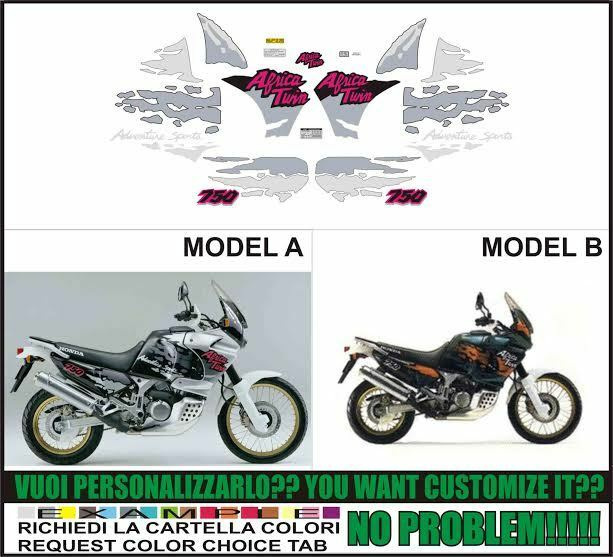kit adesivi stickers compatibili xrv 750 rd 07 africa twin. Black Bedroom Furniture Sets. Home Design Ideas
