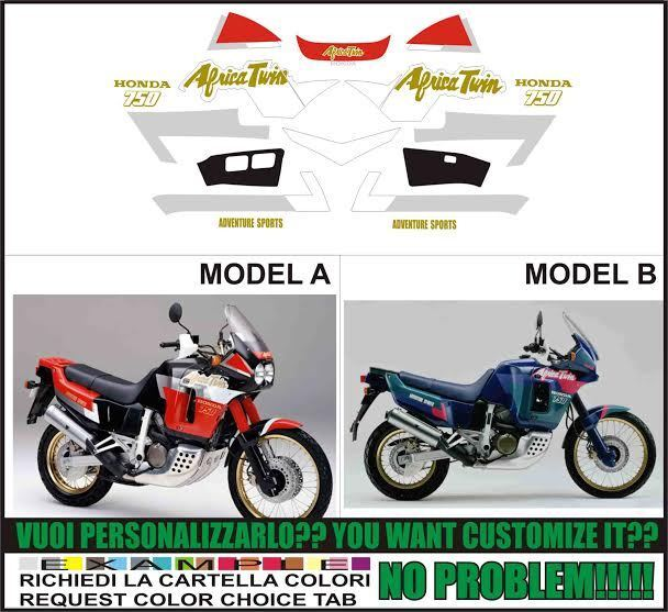 kit adesivi stickers compatibili xrv 750 africa twin rd 04. Black Bedroom Furniture Sets. Home Design Ideas