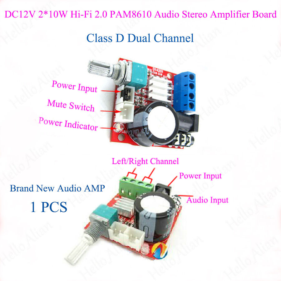 D Class Stereo Audio Power Amplifier Board Dual Channel 210w Dc12v Amp 2 Subwoofer Circuit Diy Hi Fi Module Ebay