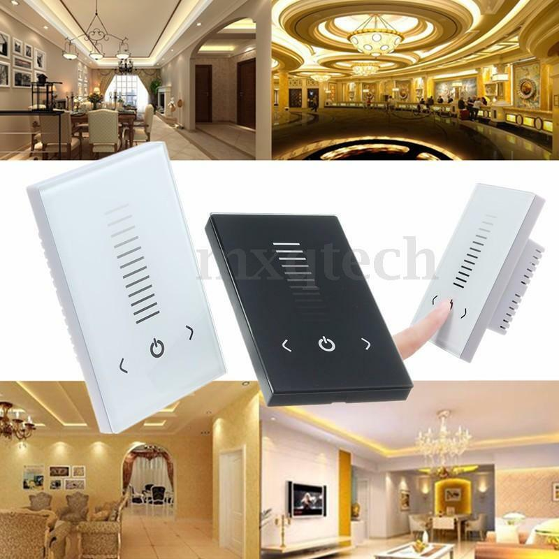 Single Color LED Strip Light Wall Switch Touch Panel Controller Dimmer DC 12-24V eBay
