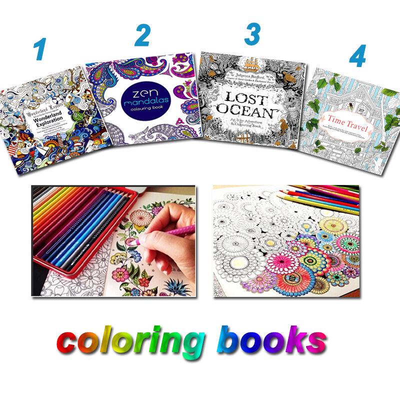 Children Coloring Book English Paperback Adult Youngs
