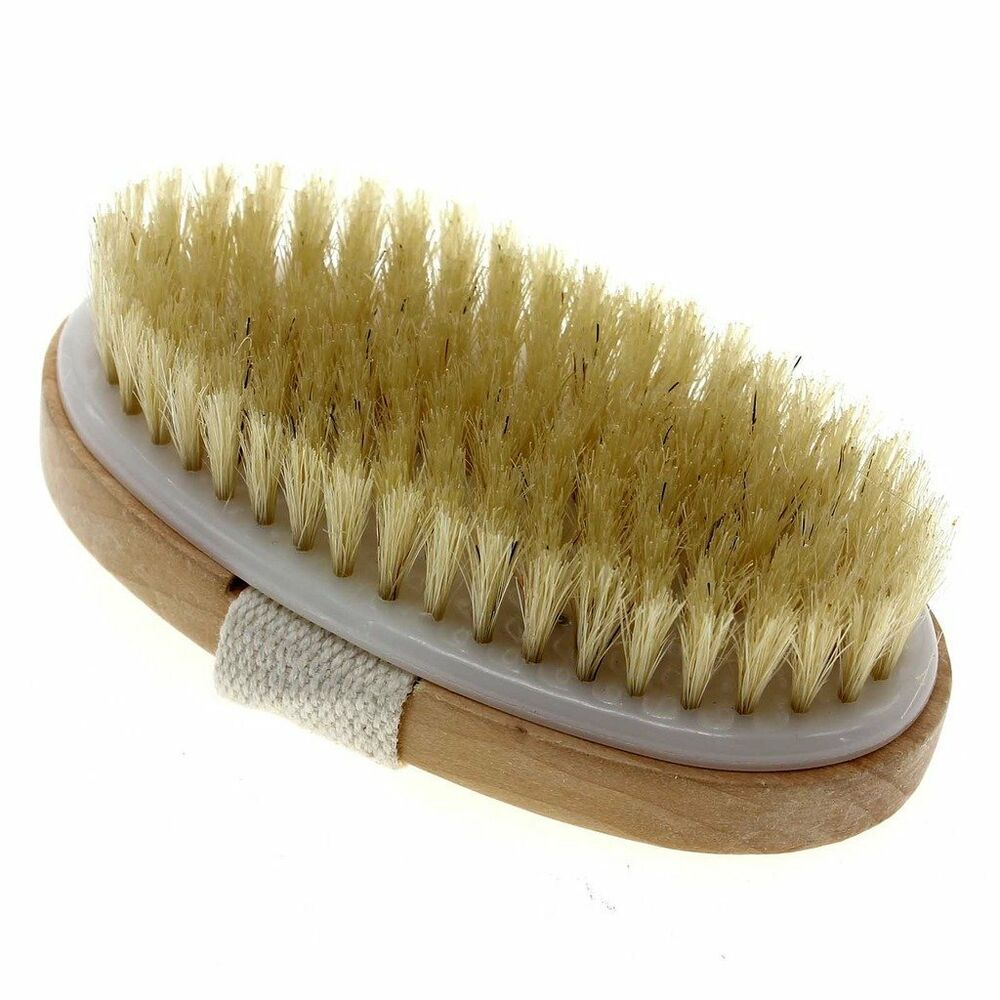 Touch Me Dry Skin Bath Body Brush Natural Boar Bristle Spa