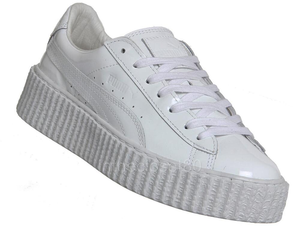 puma creepers rihanna fenty basket glow white womens trainers 362269 01 ebay. Black Bedroom Furniture Sets. Home Design Ideas