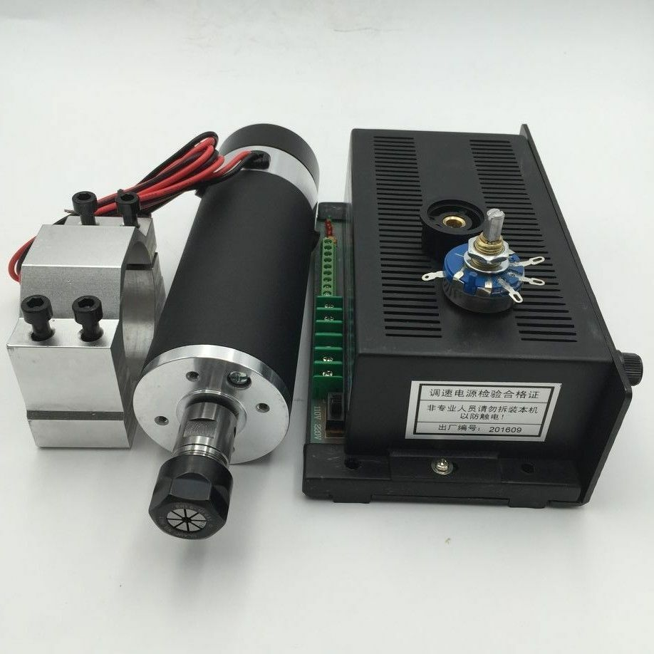 600w Dc Spindle Motor Er11 Air Cooled Mach3 Power Supply