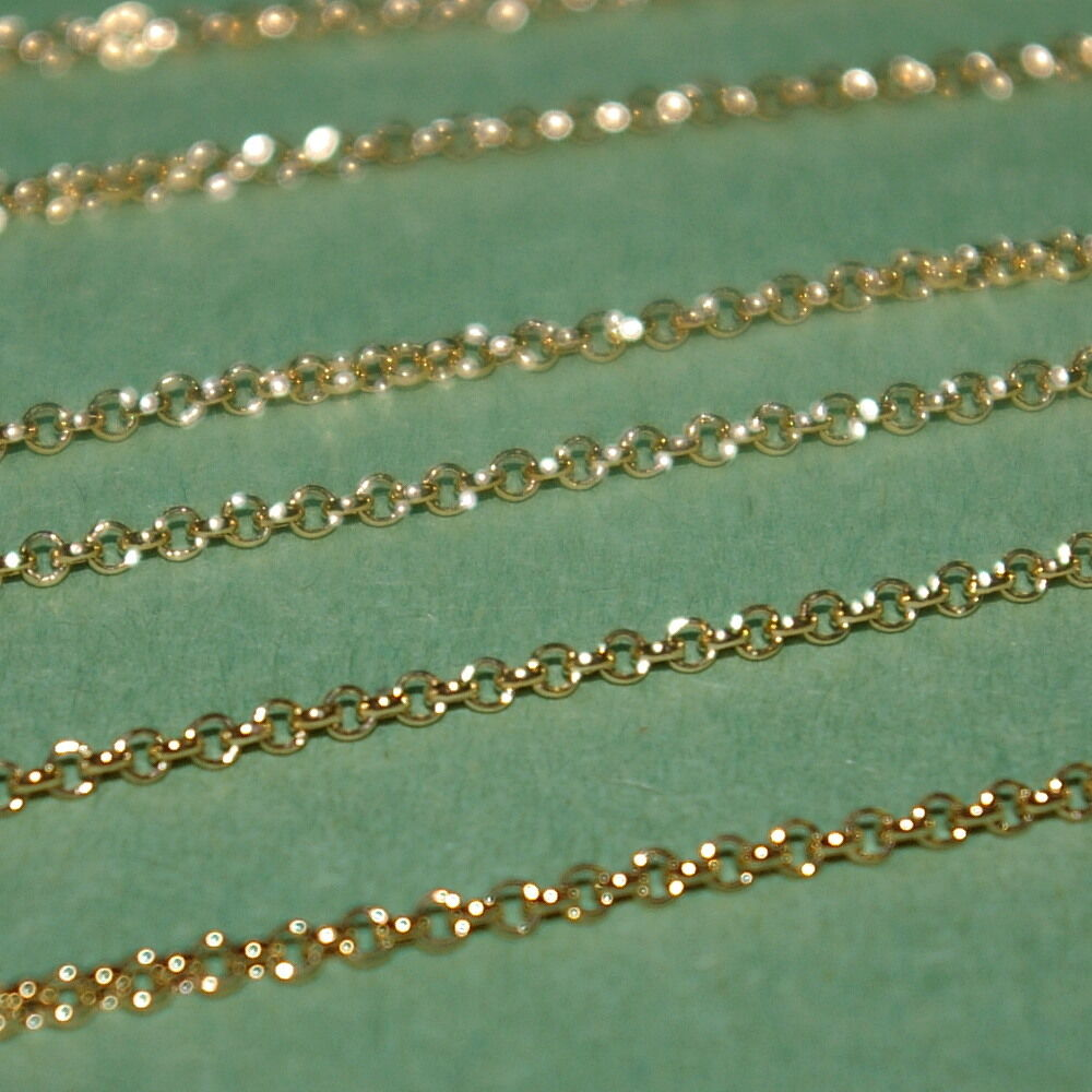 WHOLESALE LOTS 14kt Gold Filled 1.8mm ROLO / Belcher Chain ...