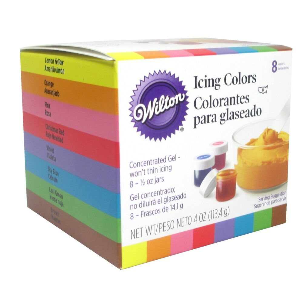 Cake Decorating Frosting Colors : Set of 8 Icing Gel Colors For Cake Cupcake Decorating ...
