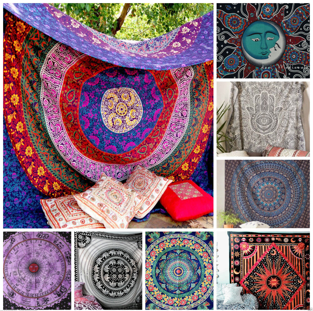 50 pcs Wholesale Lot Hippie Throw Twin Tapestry Mandala