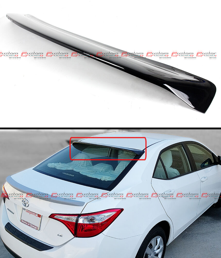 Jdm Style Glossy Black Rear Roof Window Visor Spoiler For