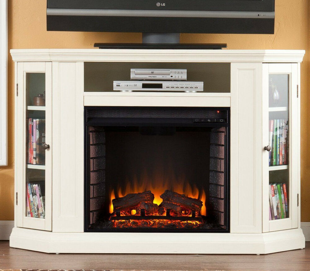 Southern Enterprises Claremont Convertible Media Ivory Electric Fireplace Fe9314 Ebay