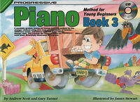 Progressive Piano Method For Young Beginners Book 3 Sheet Music Book & CD