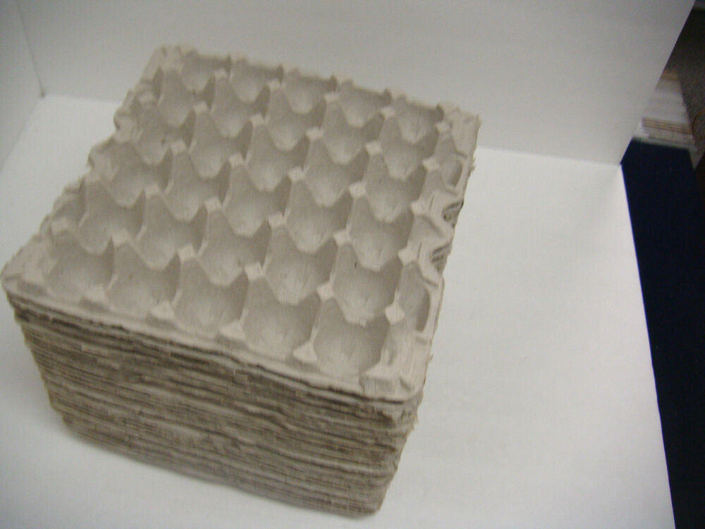 lot of 100 egg cartons flats crates paper trays reptile