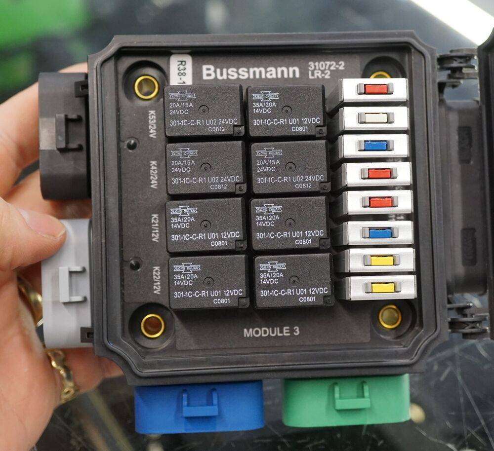 bussmann lr 2 lmtv relay breaker block 301 1c c r1 u01 u02 12v 14v 24v dc song ebay universal waterproof fuse relay box panel cooper bussmann waterproof fuse relay box wiring diagram