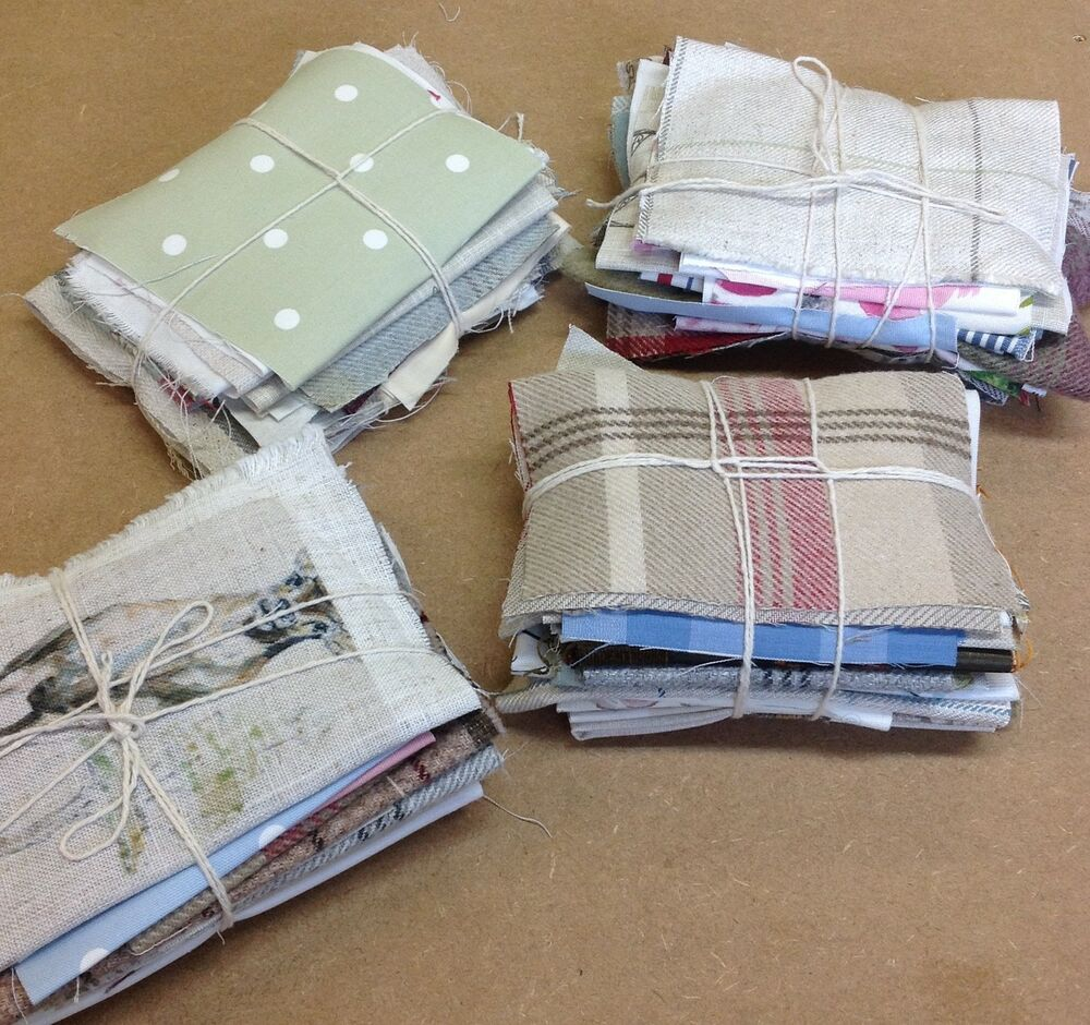 400g fabric scrap bundle remnant off cuts card making for Fabric crafts to make