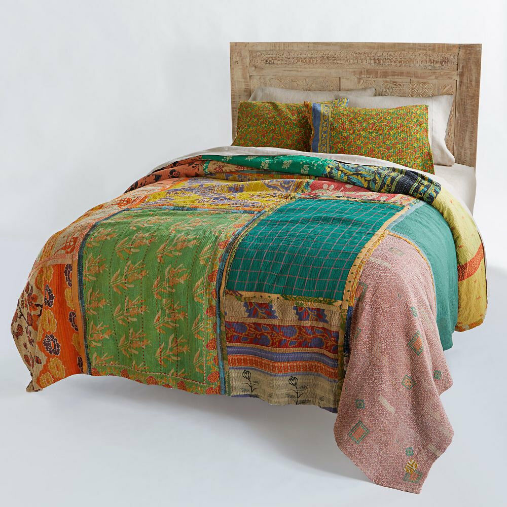 Reversible Antique Quilt Vintage Kantha Throw Patchwork  : s l1000 from www.ebay.com size 1000 x 1000 jpeg 217kB