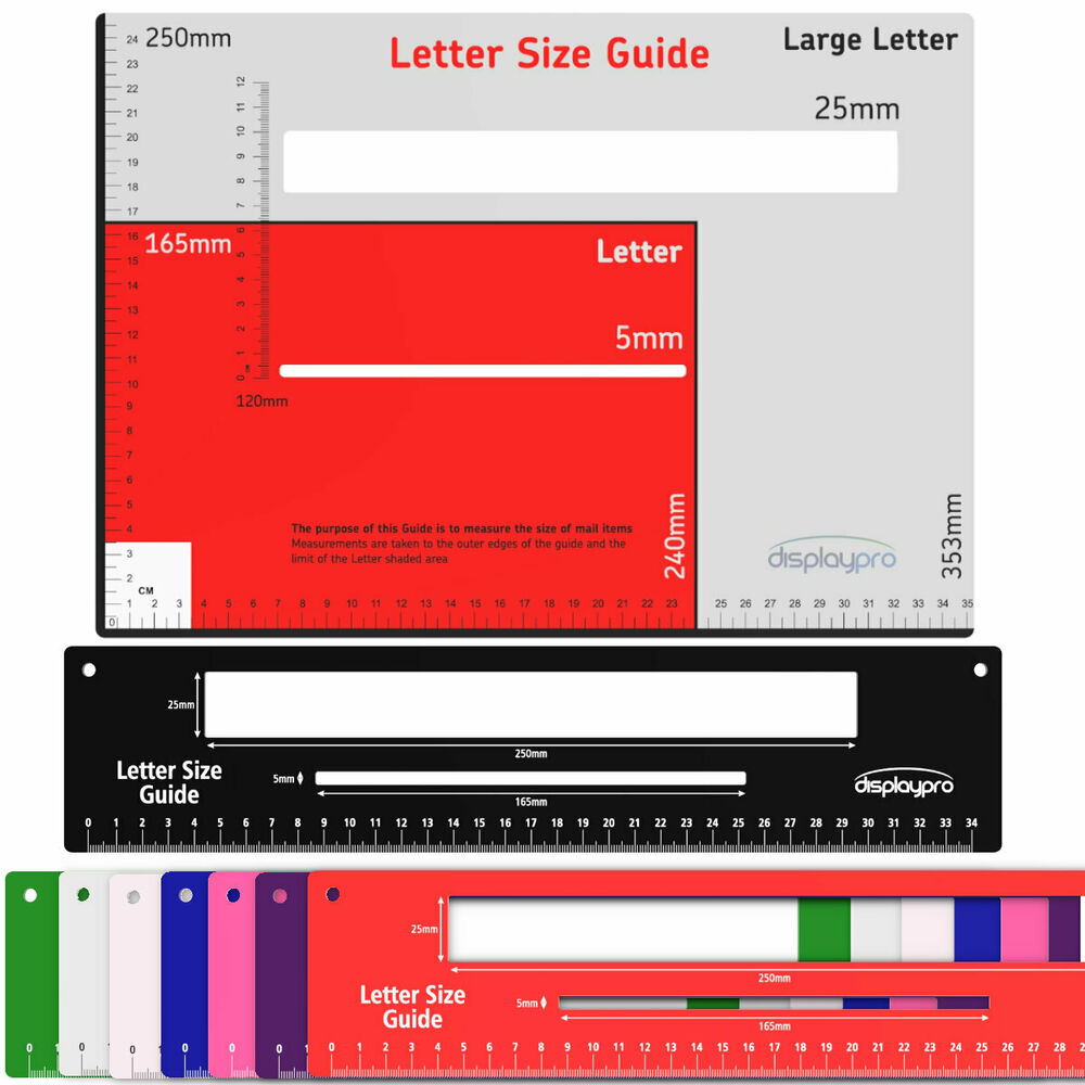letter size royal mail letter postal template size guide postage 23142 | s l1000