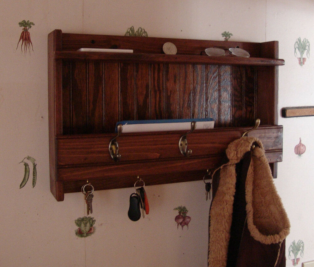 24 Handcrafted Wooden Mail Key Organizer Amp Coat Rack