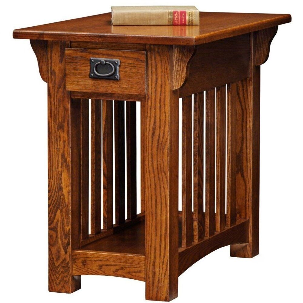 Leick Furniture Mission Chairside End Table With 1 Drawer