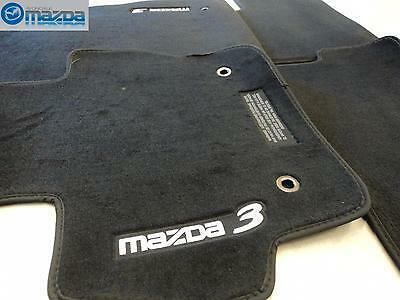 mazda 3 2010 2013 new oem black floor mats set of four. Black Bedroom Furniture Sets. Home Design Ideas