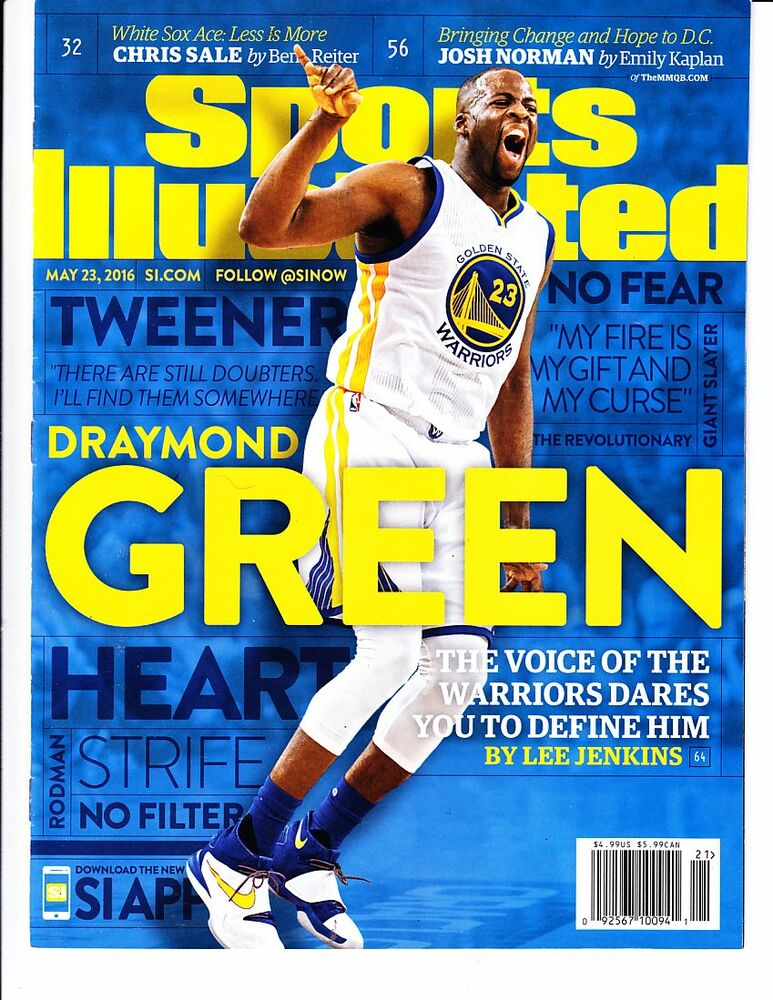 The Golden State Warrior >> May 23, 2016 Draymond Green Golden State Warriors Sports Illustrated NO LABEL | eBay
