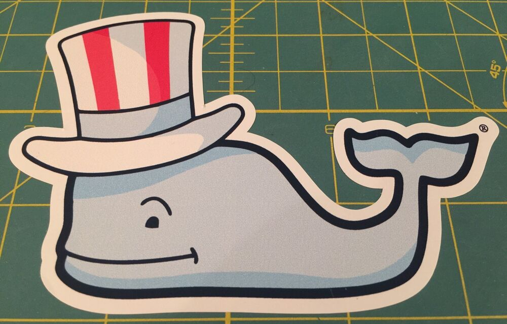 Vineyard Vines Whale 4th Of July Whale Sticker Decal Southern Proper Ebay
