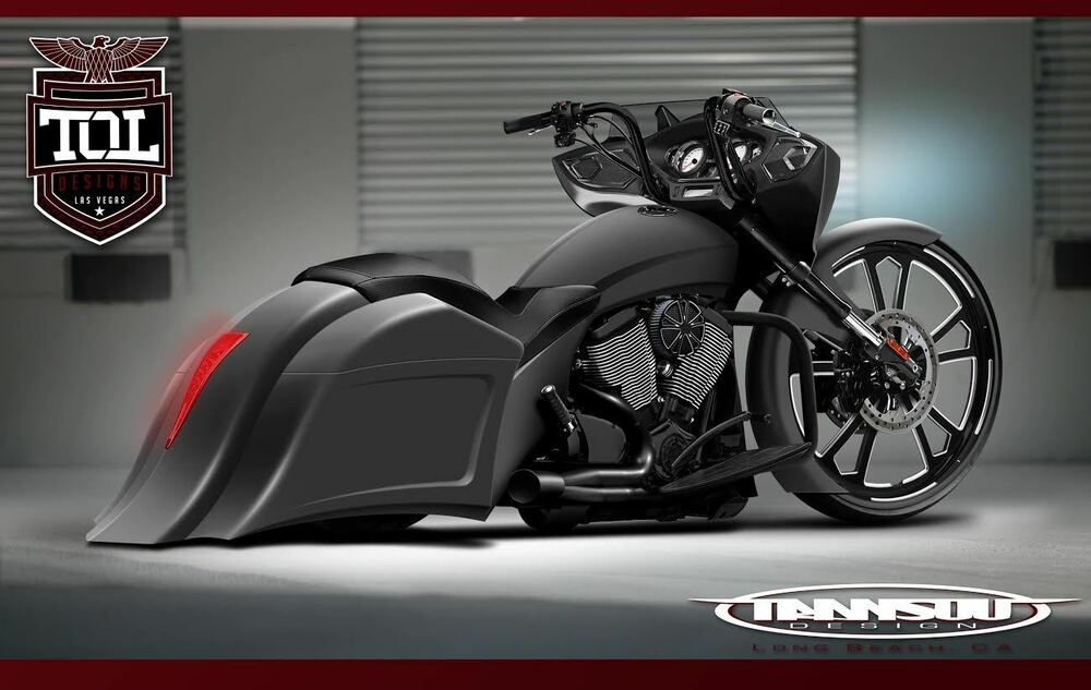 Victory Cross Country Stretched Saddlebags And Fender Kit