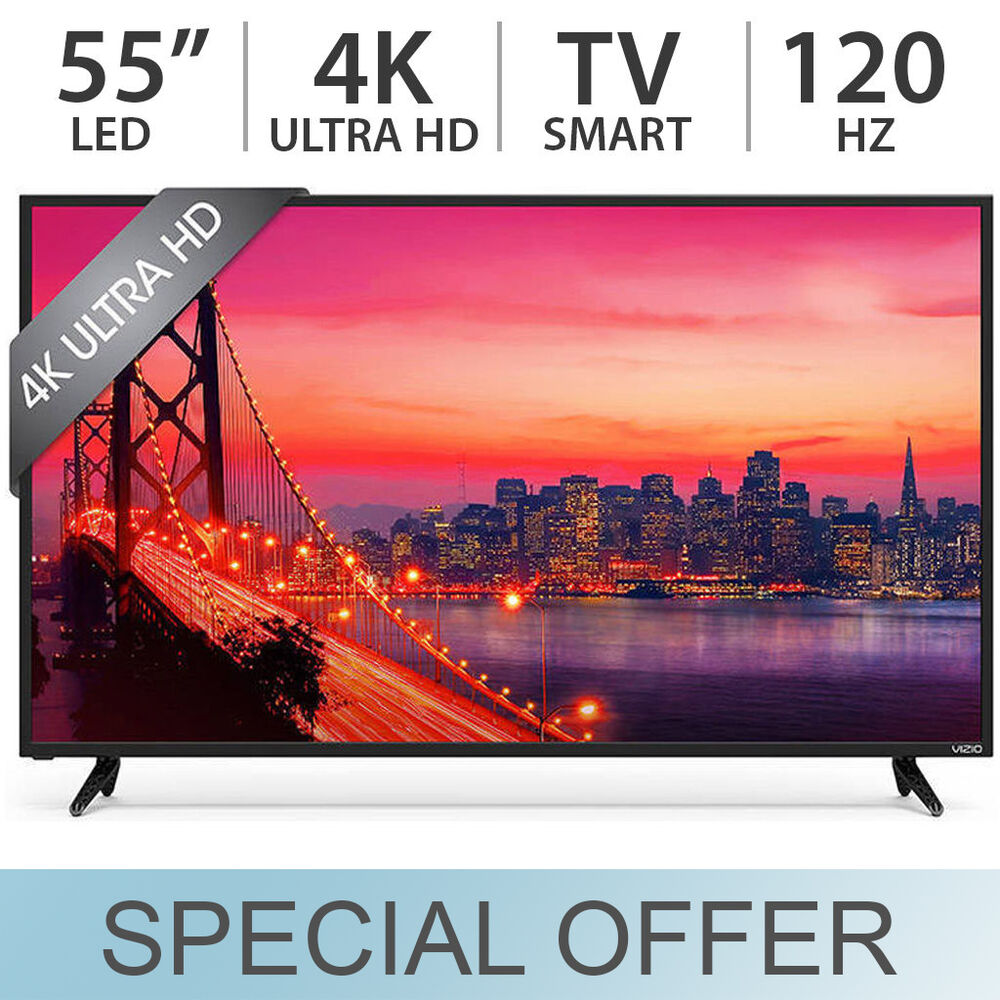 vizio 55 4k 2160p uhd e series 120hz led lcd smart tv w. Black Bedroom Furniture Sets. Home Design Ideas