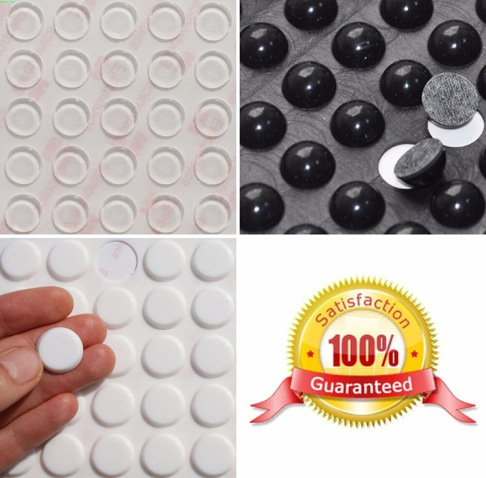 3m Silicone Rubber Feet Bumpons Clear Or Black Round