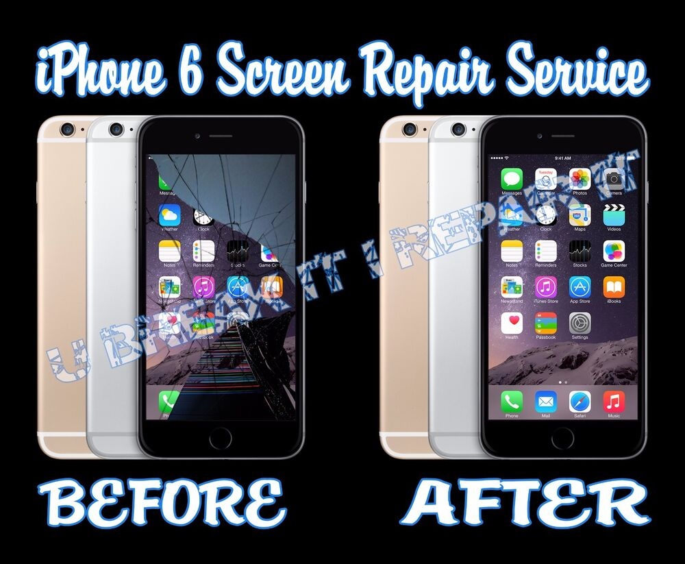 iphone cracked screen repair iphone 6 broken glass digitizer lcd screen repair 15234