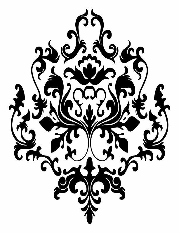 3 baroque graphics vinyl decal wall sticker or stencil design ebay. Black Bedroom Furniture Sets. Home Design Ideas