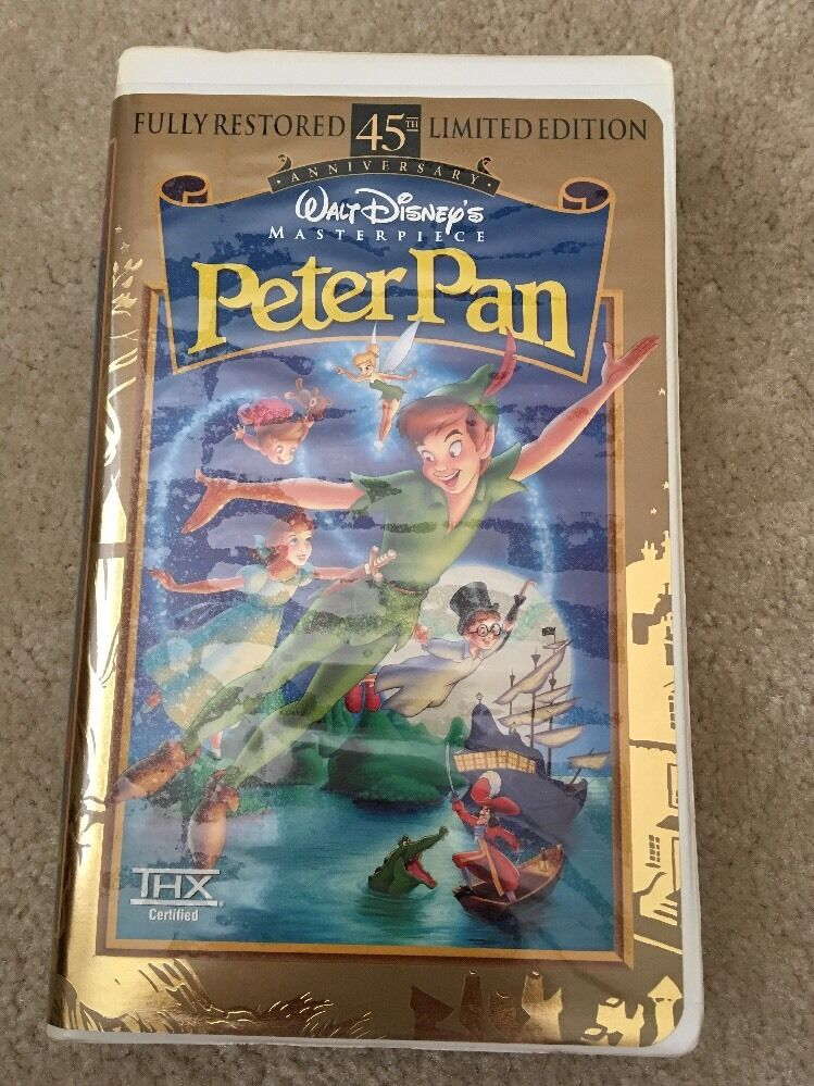 Sell Vhs Tapes >> Peter Pan (VHS, 1998, 45th Anniversary Limited Edition) | eBay