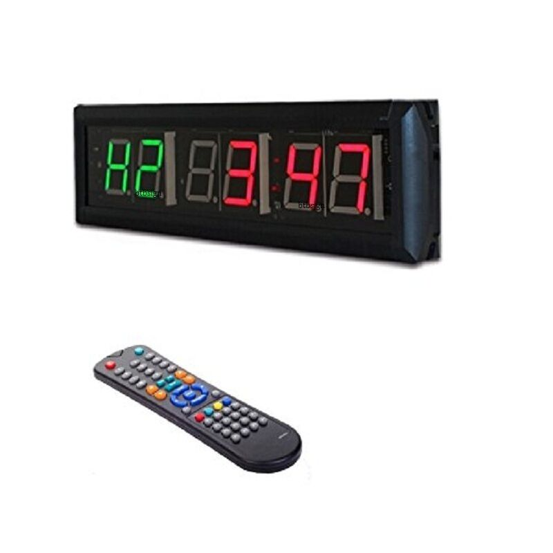 crossfit interval timer wall clock w remote for emom
