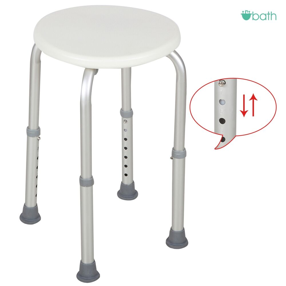 7 Height Chair Bath Adjustable Medical Bath Shower Stool