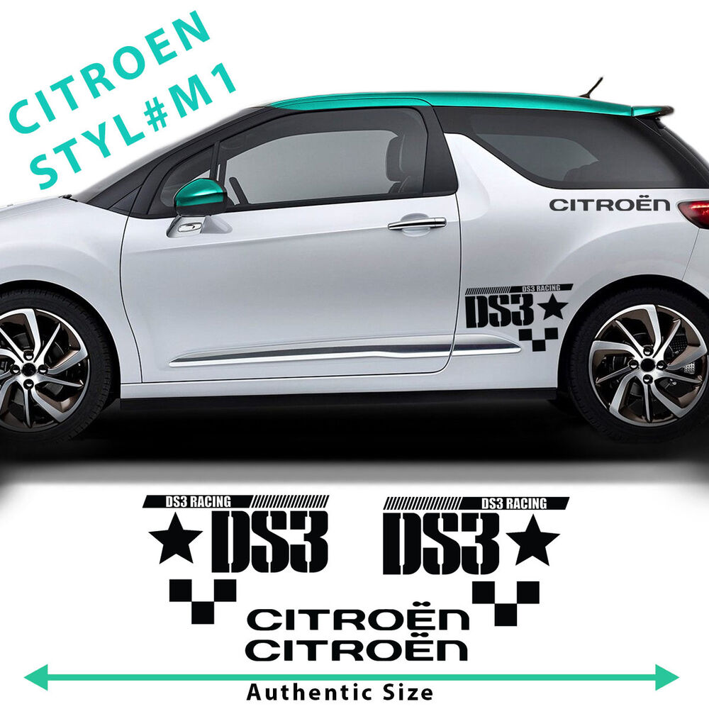 citroen c3 ds3 racing side stripes graphics decals car stickers authentic size ebay. Black Bedroom Furniture Sets. Home Design Ideas