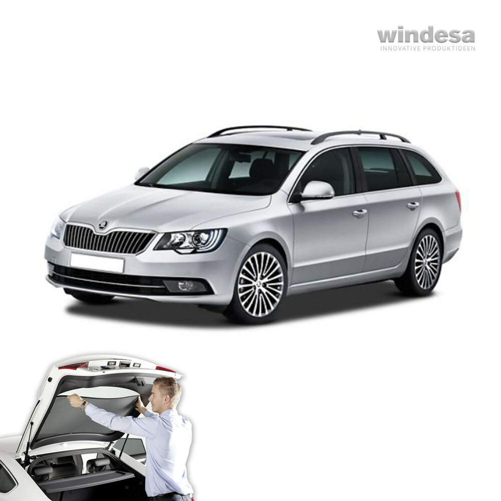 skoda superb combi 2009 car sun shade blind screen tint. Black Bedroom Furniture Sets. Home Design Ideas
