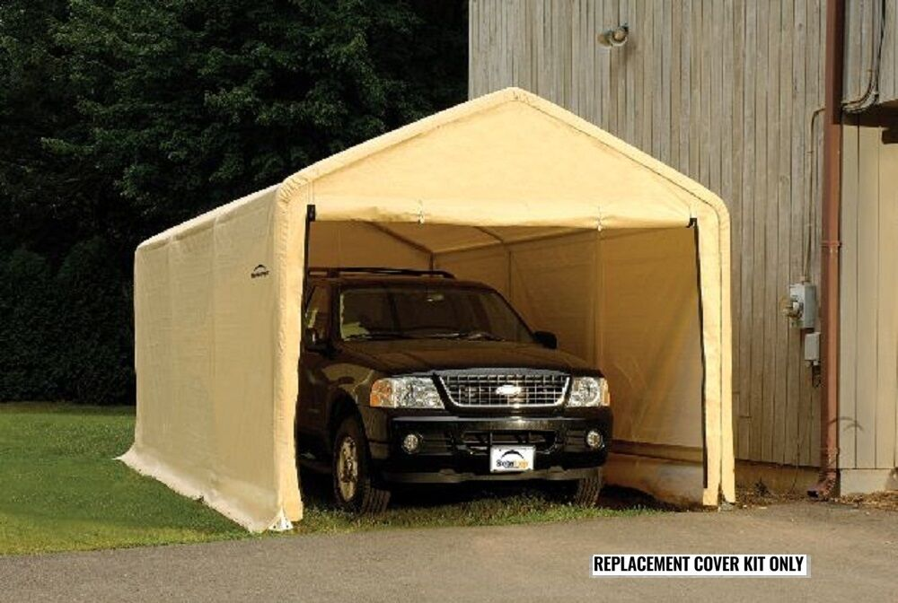 Portable Garages Brands : Shelterlogic replacement cover peak