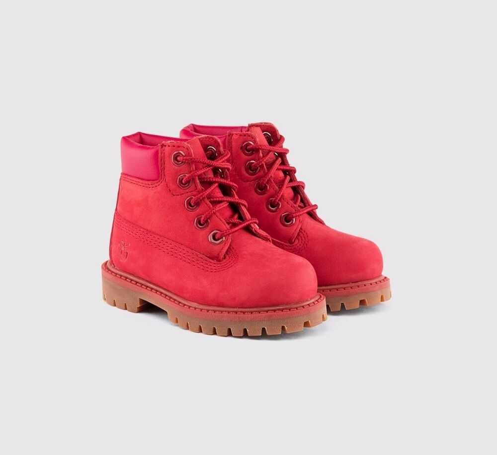 Timberland 6 INCH BOOT RED Size 12 13 1 2 KIDS Boys Girls ...