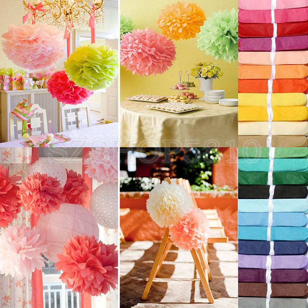 pom pom wedding decorations 100pcs tissue paper pom poms flower wedding 6711
