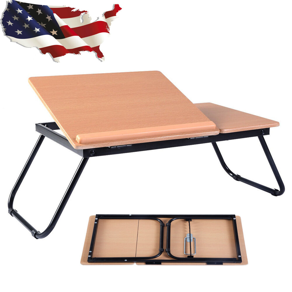Portable Laptop Desk Notebook Computer Tray Folding Table Stand Sofa Bed Ebay