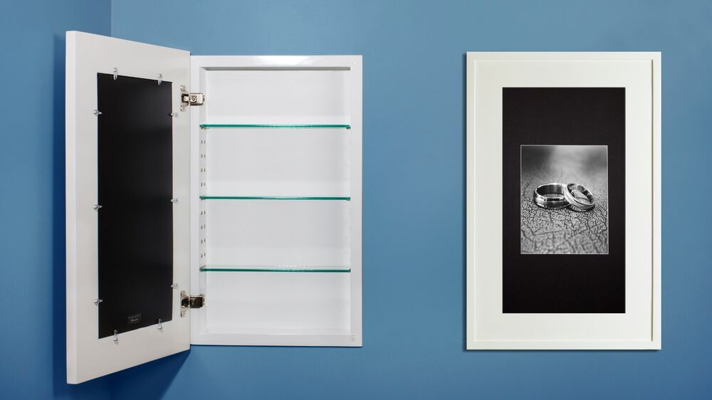 Recessed Medicine Cabinet W Picture Frame Door No Mirror