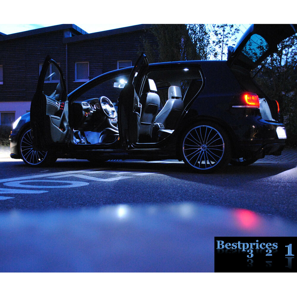 seat ibiza 6j 6l 6p 7 led smd innenraumbeleuchtung komplettset set innenraum ebay. Black Bedroom Furniture Sets. Home Design Ideas