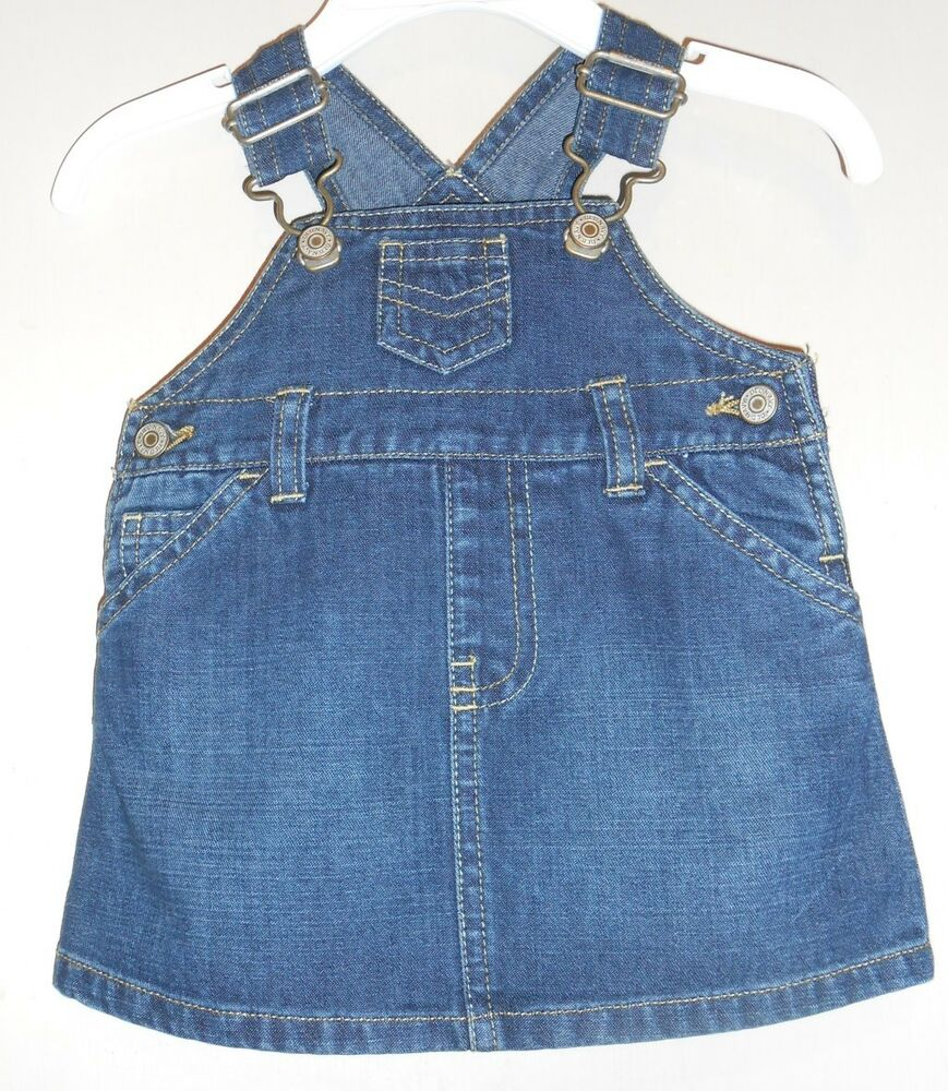 Old Navy Infant Girls Vestbak Denim Sun Dress Diaper