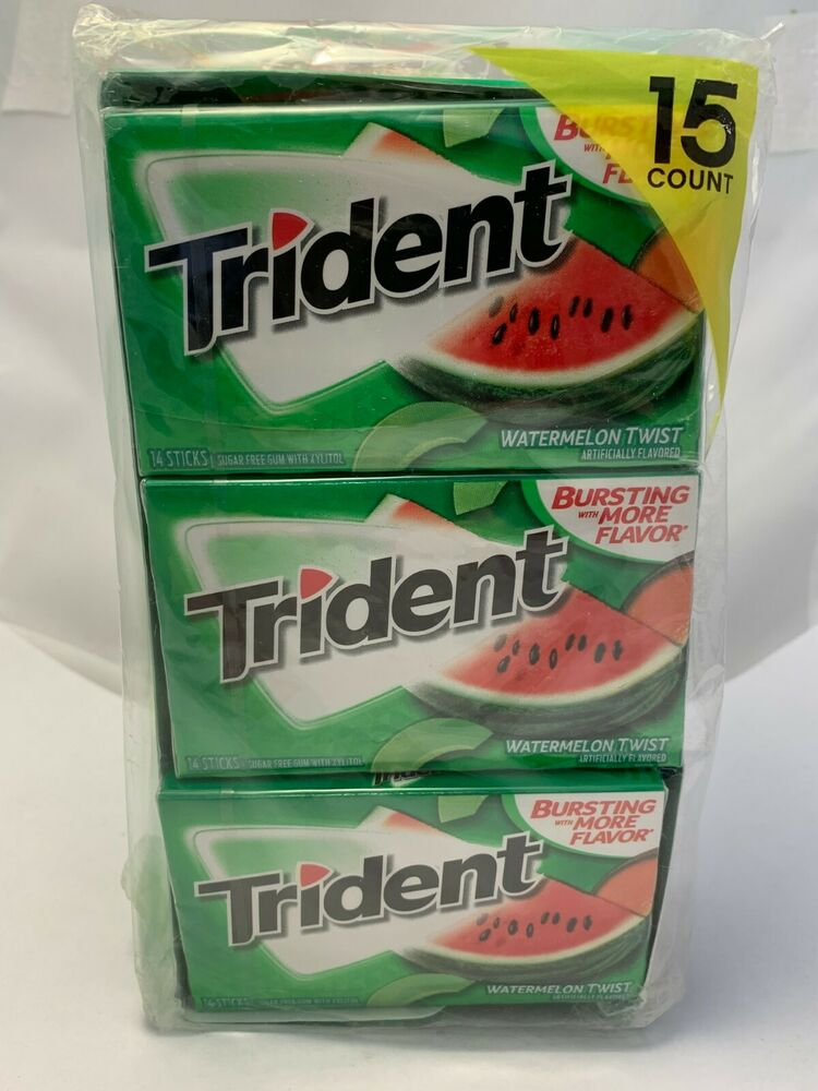 Trident Watermelon Twist Sugar Free Gum 14 15 Stick Packs 210 Pc Shipping 12546001335 Ebay