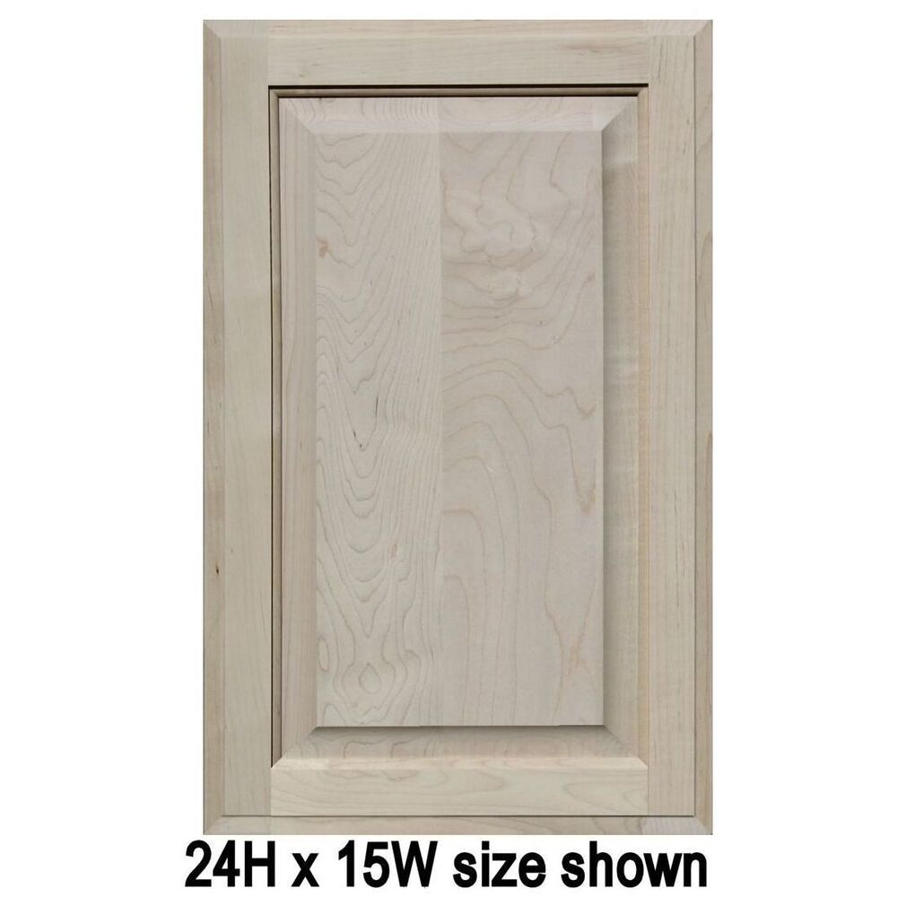 Buy Unfinished Kitchen Cabinet Doors: Unfinished Maple Cabinet Doors, Square With Raised Panel