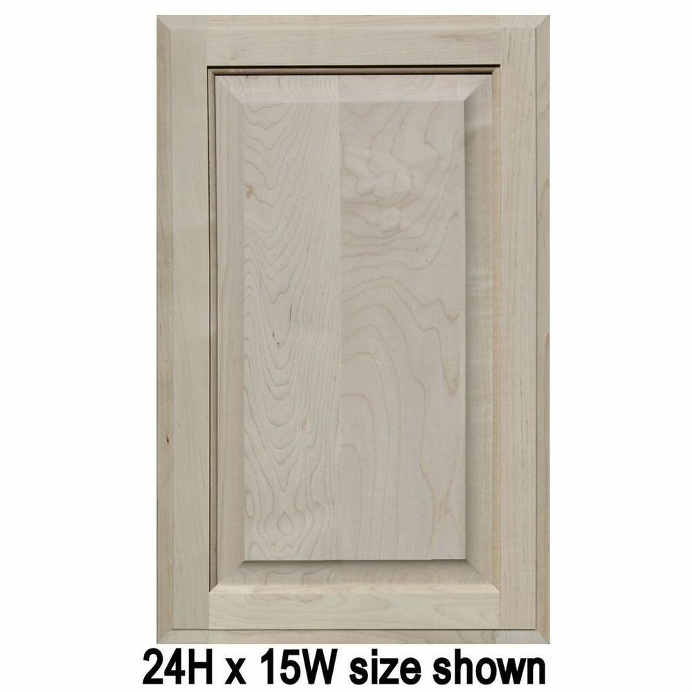 Replacement Oak Kitchen Cabinet Doors: Unfinished Maple Cabinet Doors, Square With Raised Panel