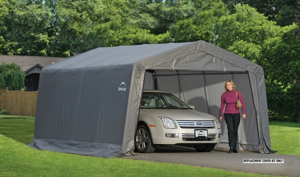 Tarp Car Sheds Garages : Shelterlogic replacement cover peak for