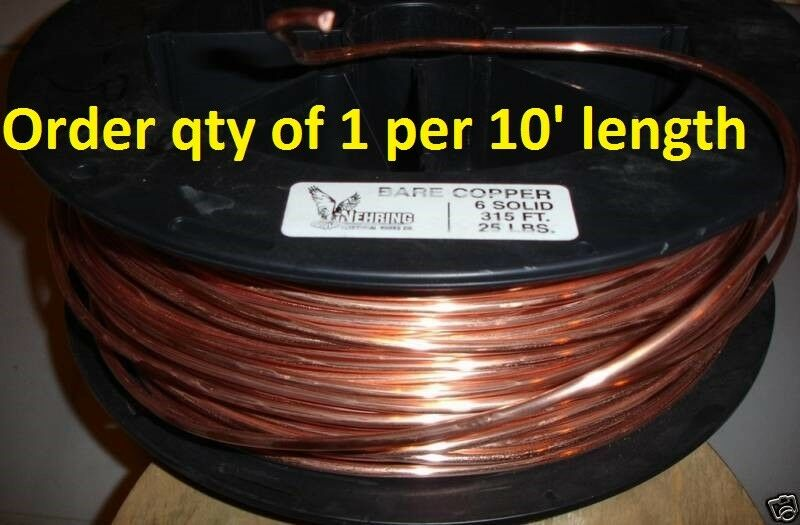 12 Copper Ground Wire : Ground wire awg gauge solid bare copper a service ebay