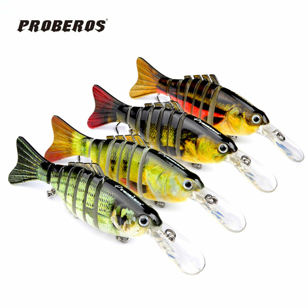 1pc 4 4 multi jointed proberos fishing lures swimbait for Ebay fishing gear