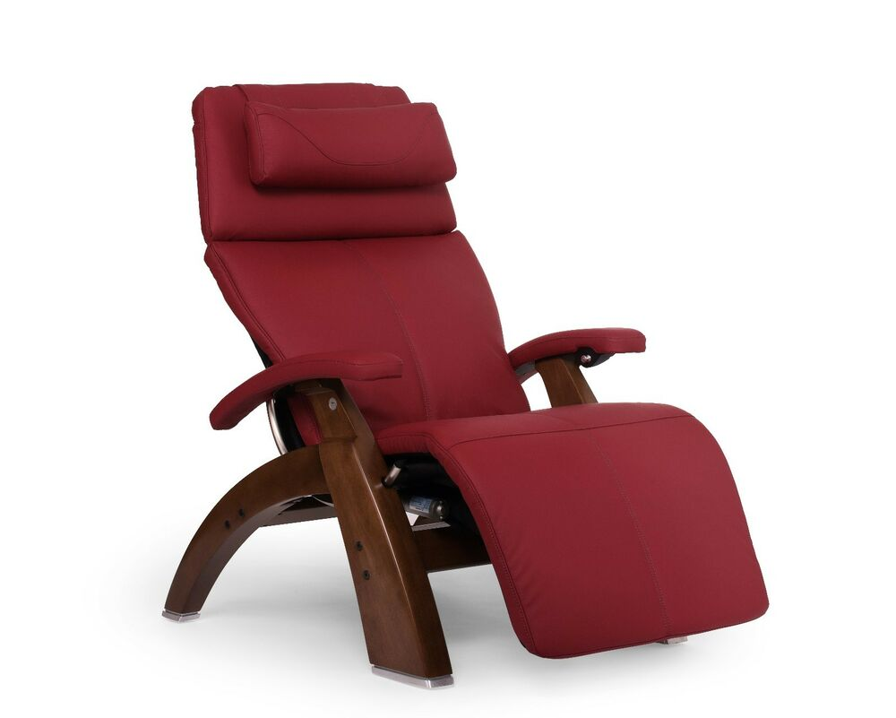 Red Pc 610 Omni Motion Human Touch Zero Gravity Perfect Chair Recliner Walnut Ebay