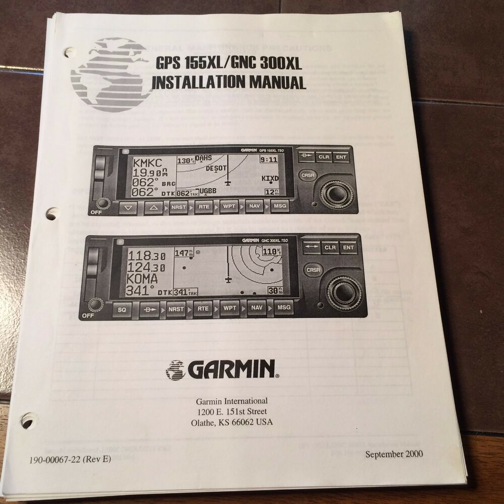 garmin gps 155xl   gnc 300xl install manual ebay garmin 300xl installation manual Update Garmin 300XL
